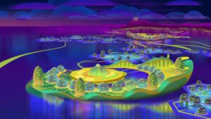 Floating village, Tonlesap,, Cambodia, future, 20120